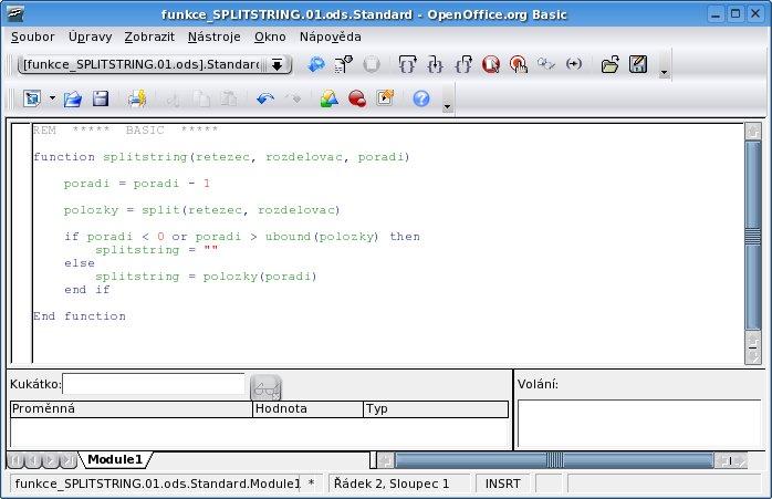 Editor OpenOffice.org Basicu
