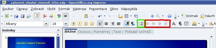 Panel formátování textu