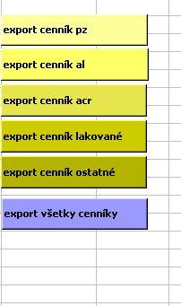 Tlačidlá pre export