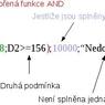 Schéma funkce AND vložené jako argument funkce IF