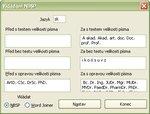 Definícia textových zoznamov príslušného jazyka