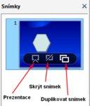 Zcela nová funkce – plovoucí okno, jež se zobrazuje po najetí kurzoru myši do náhledu snímku.