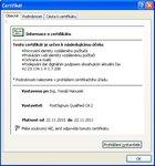 Obecné informace o certifikátu