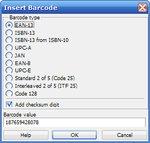 Vyberte si z řady možných typů čárových kódů
