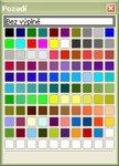Štandardná možnosť OpenOffice.org pre výber farby