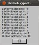 Zobrazení všech provedených výpočtů makra
