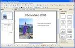 Vložení nadpisu, fotky a komentáře do předlohy